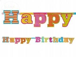 Baner urodzinowy HAPPY BIRTHDAY 16x166cm
