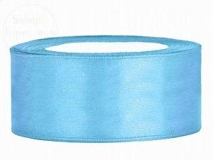Tasiemka satynowa błękitna 25mm/25m
