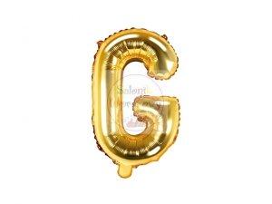 Balon foliowy Litera G 35 cm złoty