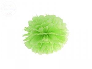 Pompon bibułowy jasno zielony 25cm 1szt