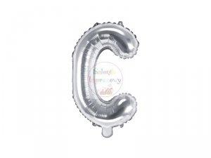 Balon foliowy Litera D 35 cm srebrny