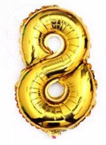 Balon foliowy złoty 40 cm - 8