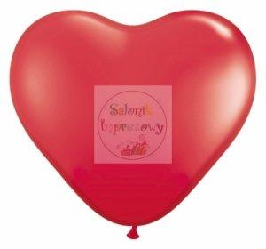 Balony 10 cali serca meks czerwone 1szt