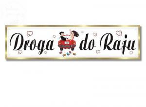 Tablica rejestracyjna ślubna Droga do Raju