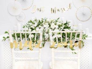 Zawieszki dekoracyjne Żona Mąż złote