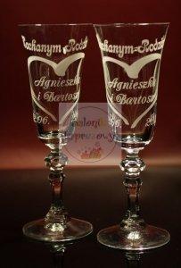 Grawerowane kieliszki do szampana podziękowania dla rodziców
