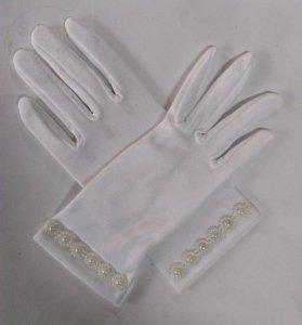 Rękawiczki komunijne z koralikami 1 para