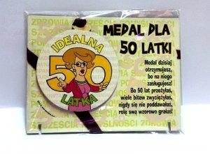 Medal podstawka dla 50-latki