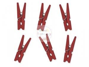 Klamerki drewniane w kolorze czerwonym 10szt