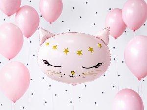 Balon foliowy różowy Kotek