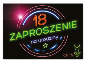 Zaproszenie na 18 Urodziny  OPEN