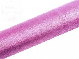 Organza 0,16x9m gładka różowa ORP16-081