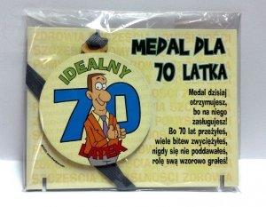 Medal podstawka dla  70-latka