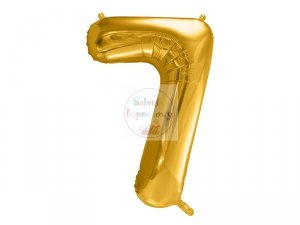 Balon foliowy  86 cm złoty cyfra 7