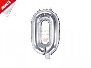 Balon foliowy Litera O 35 cm srebrny