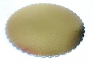 Podkład złoty pod tort  30 cm.