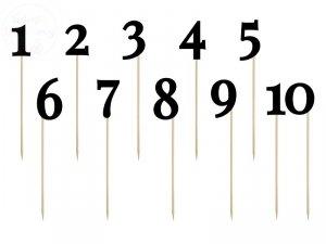 Numery na stół, czarny 24-26 cm - 11szt