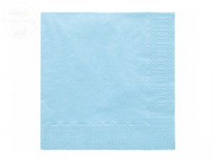 Serwetki 3 wartsw 33x33 błękit 20 szt 010714