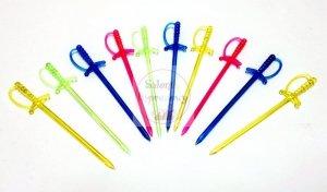 Wykałaczki plastikowe  Miecze 8,8cm - 10szt