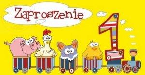 Zaproszenie na Roczek  - 1 urodzinki Pocią