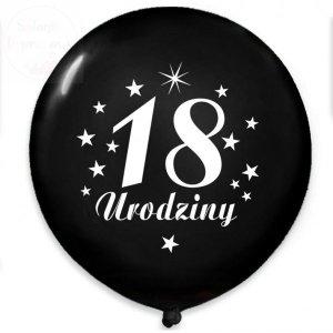 Balony czarne z białym nadrukiem 18 Urodziny