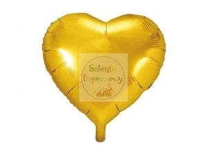 Balon foliowy serce 45 cm złoty