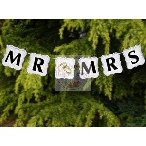Baner weselny   MR & MRS - 1szt