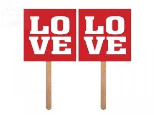 Karteczki na patyczku    Love / Love