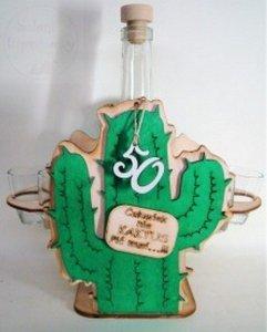 Karafka Kaktus + 6 kieliszków 50 urodziny