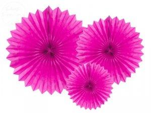 Rozety dekoracyjne ciemny róż 20-40 cm