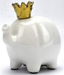 Skarbonka słoń w złotej koronie