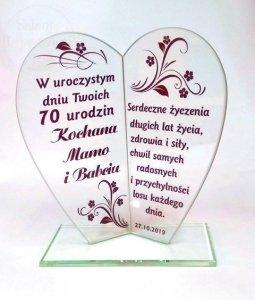 Statuetka serce prezent na urodziny, podziękownie dla rodziców