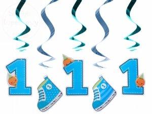 Świderki urodzinowe niebieskie dł. 60cm SWID10/B
