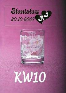 Kieliszek do wódki z grawerem KW10