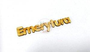 Napis drewno Emerytura 13x2cm