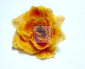Kwiat sztuczny RÓŻA w kolorze pomarańczowym 1 szt