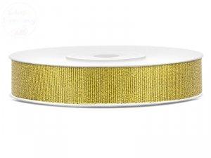 Tasiemka  brokatowa złota 10mm/25m