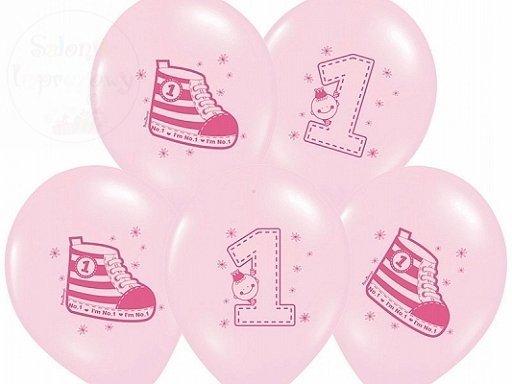 """Balony 14cali różowe """"Trampek nr 1"""""""