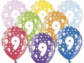 """Balony 14 cali mix kolor metalik """"9"""""""