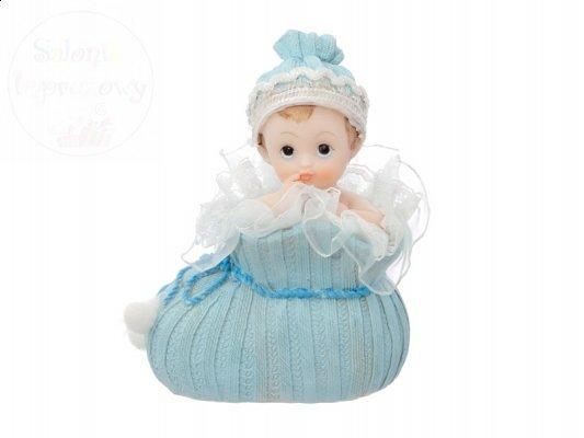 Figurka na tort chłopiec w niebieskim bucie DF1C
