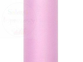 Tiul na szpulce  15cm x 9 m jasnoróżowy