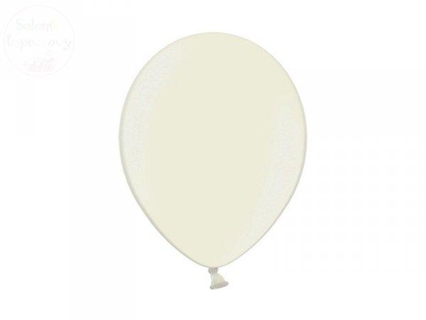 Balony 12 cali metalic kremowy