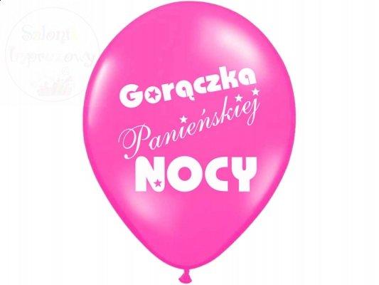 Balony 14cali różowe Goroączka Panieńskiej... 1szt