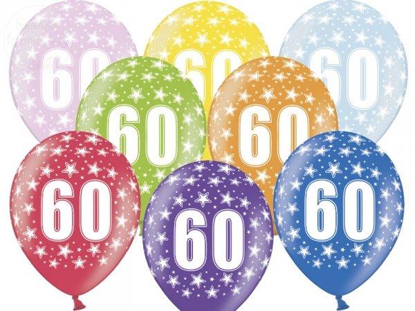 """Balony 14 cali metalik mix kolor """"60"""""""