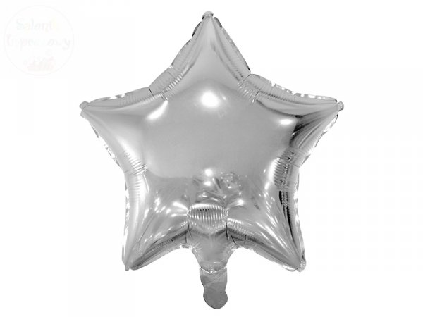 Balon foliowy Gwiazdka srebrna 48 cm