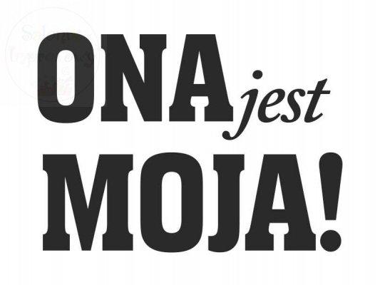 """Naklejki na buty """"ONA jest MOJA!""""  2szt NB13"""