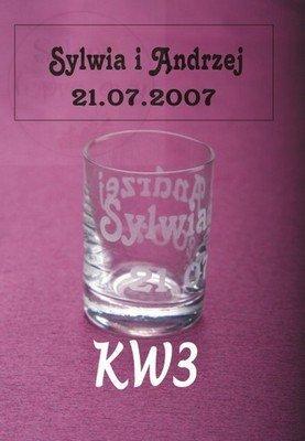 Kieliszek do wódki z grawerem imion KW3