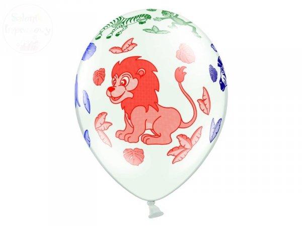 """Balony 14 cali białe pastelowe """"Zoo"""" 1szt"""