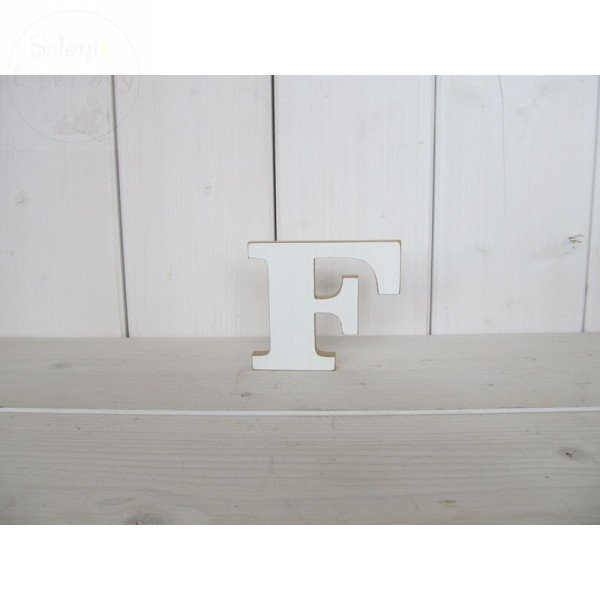 """Litera drewniana wys. 18 cm """"F"""" 1szt"""