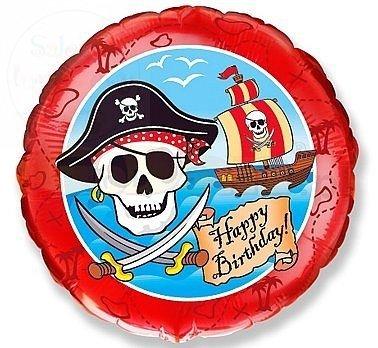 Balon foliowy 18cali Pirackie Happy Brithday